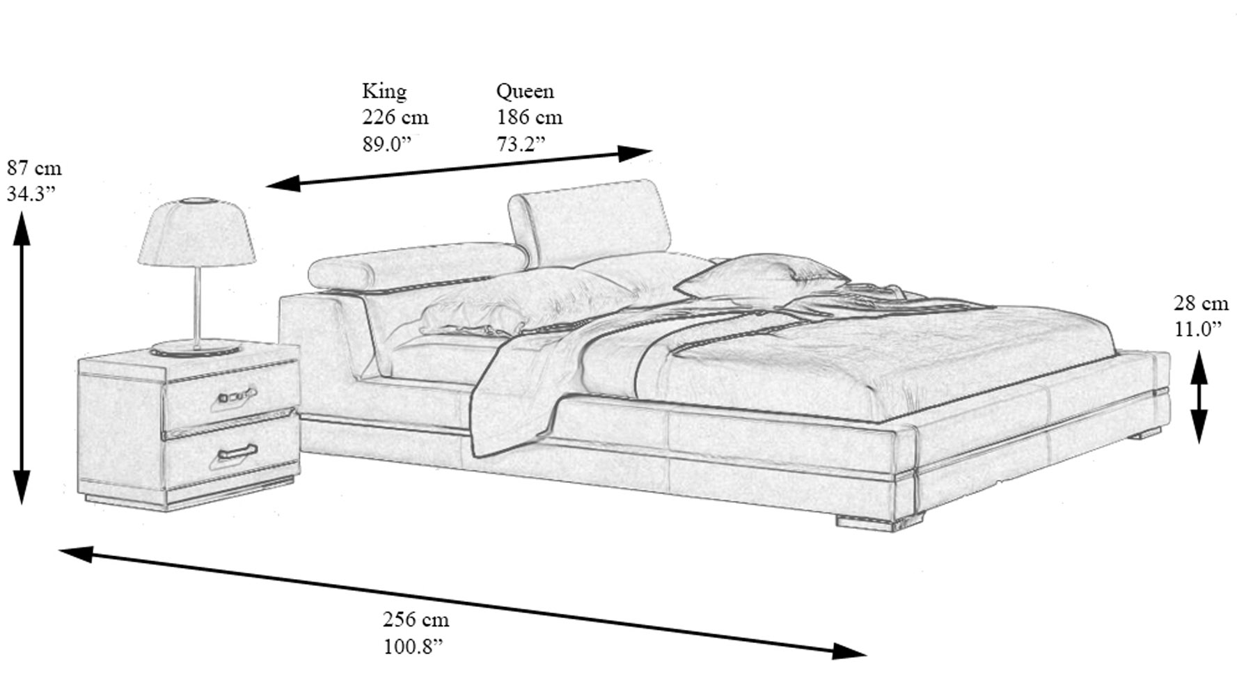 Large Full Size Bed Dimensions