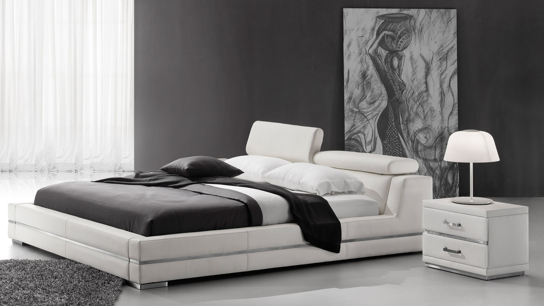 White leather beds designs 1 - White Leather Beds Designs 1 13