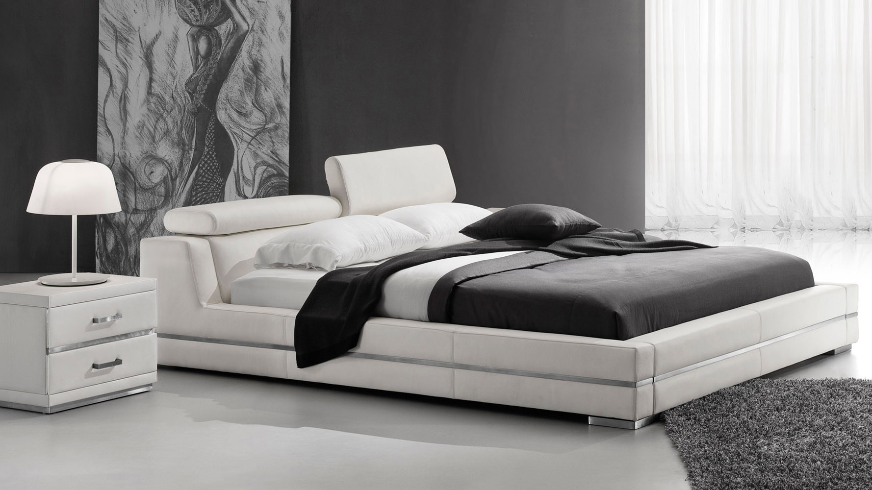 leather bedroom sets hera white leather platform bed zuri furniture 12068
