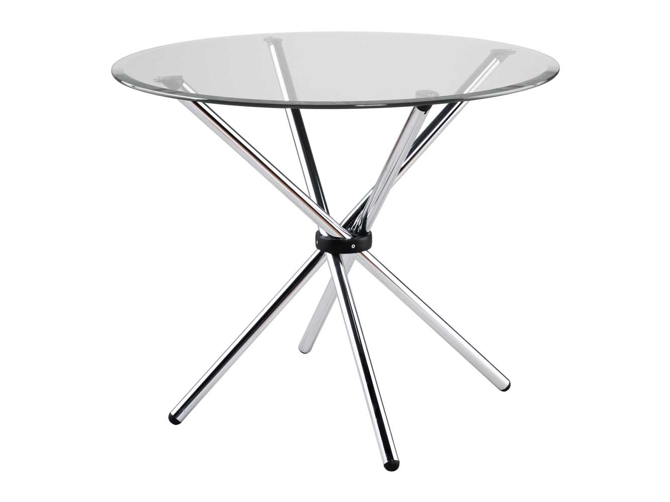 Hydra Small Round Tempered Glasses Dining Table With  : hydrachrome1 from www.zurifurniture.com size 1333 x 1000 jpeg 65kB