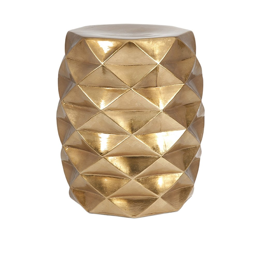 Ik Geometric Ceramic Garden Stool Zuri Furniture