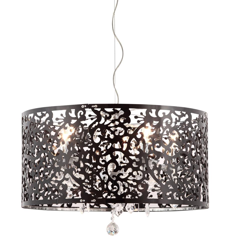 polished chrome and black acrylic ironside pendant zuri furniture. Black Bedroom Furniture Sets. Home Design Ideas
