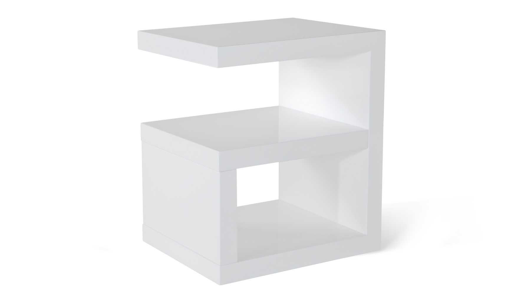 jayden high gloss modern side table white zuri furniture