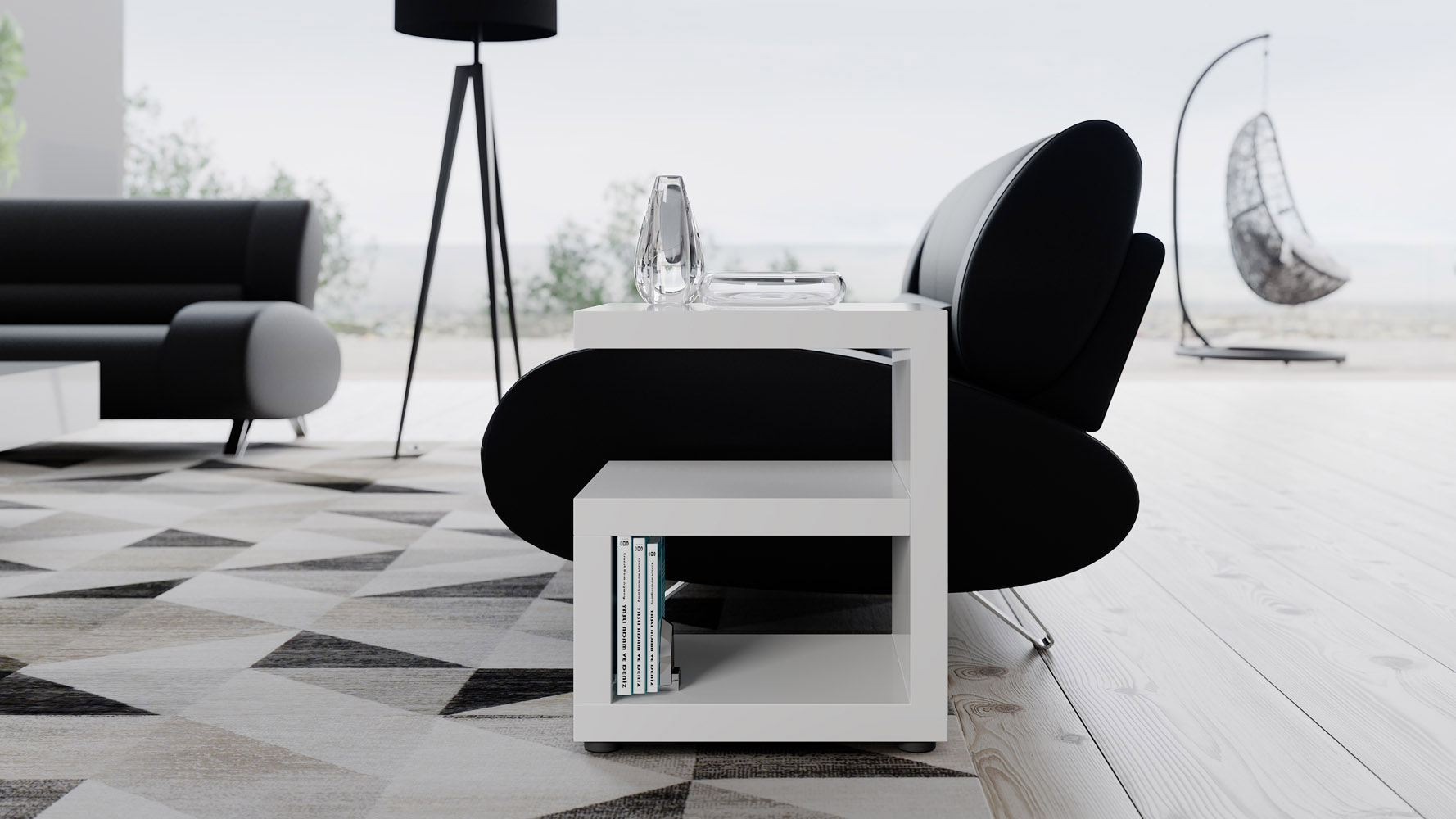 Jayden Side Table White