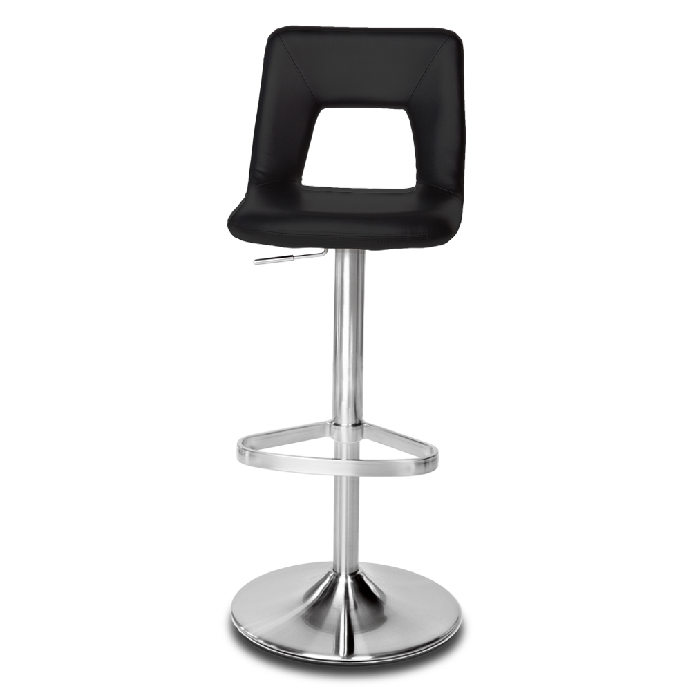 Jazz Adjustable Height Swivel Armless Bar Stool Zuri