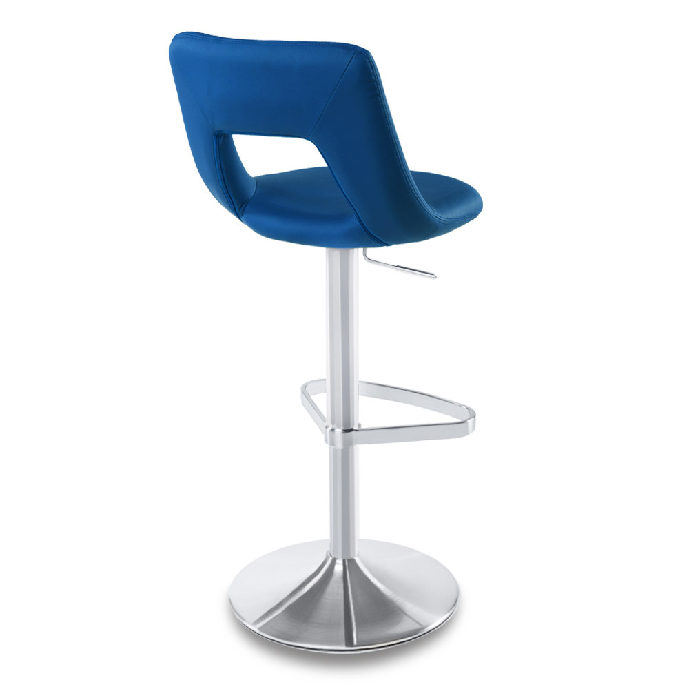 Dark blue jazz bar stool