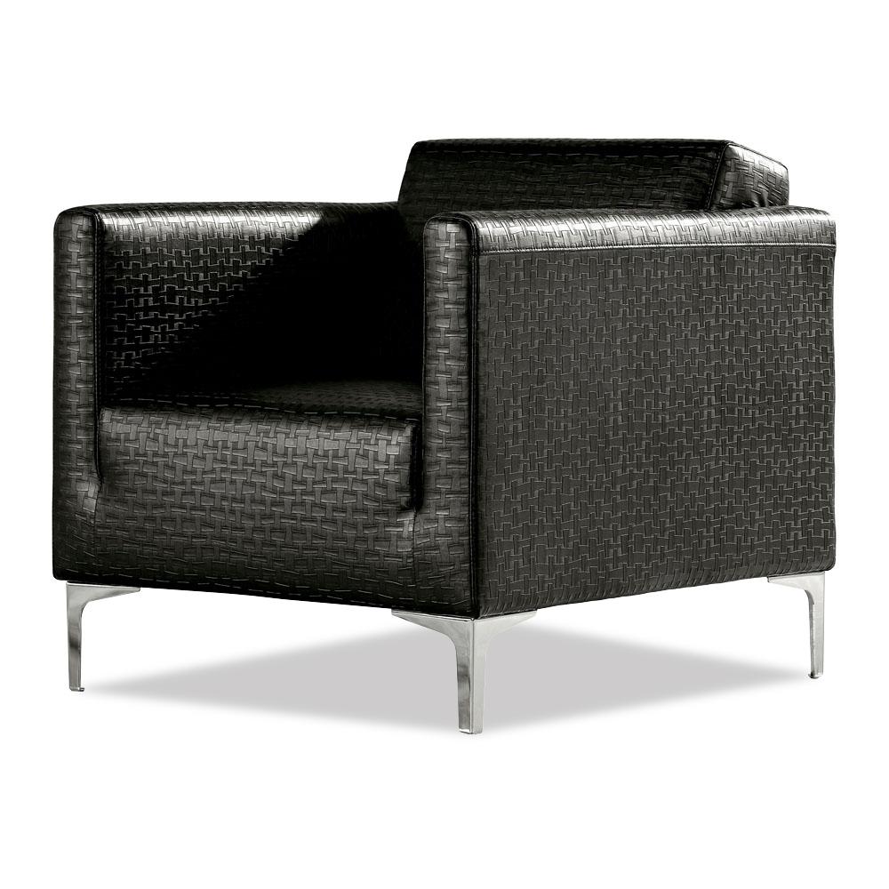 Kessler Modern Accent Chair With Chrome Feet Zuri Furniture