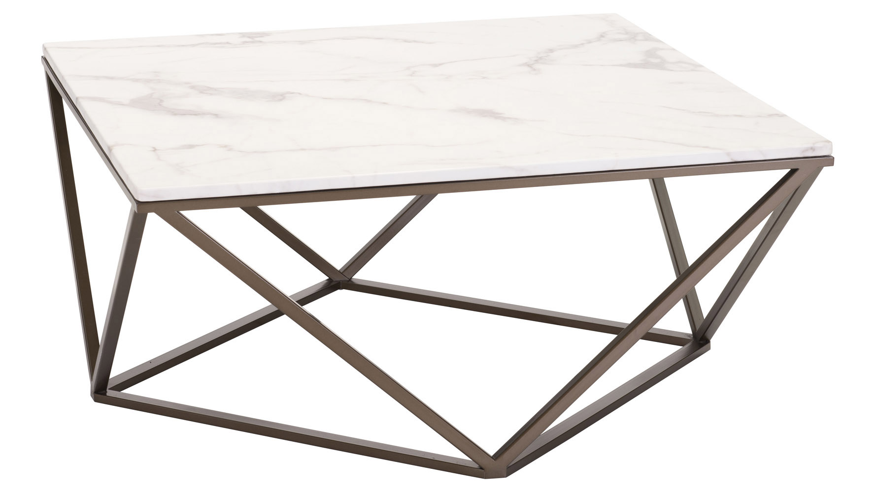 Klee faux marble coffee table stone antique brass zuri furniture mouse over image to zoom or click to view larger geotapseo Choice Image