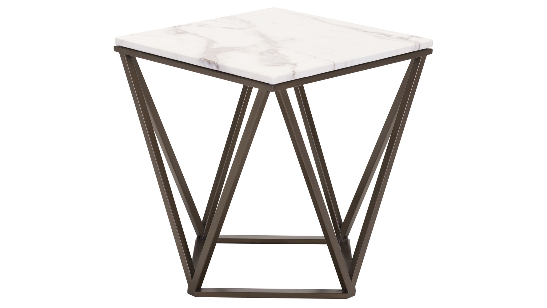 klee faux marble end table stone antique brass zuri furniture. Black Bedroom Furniture Sets. Home Design Ideas