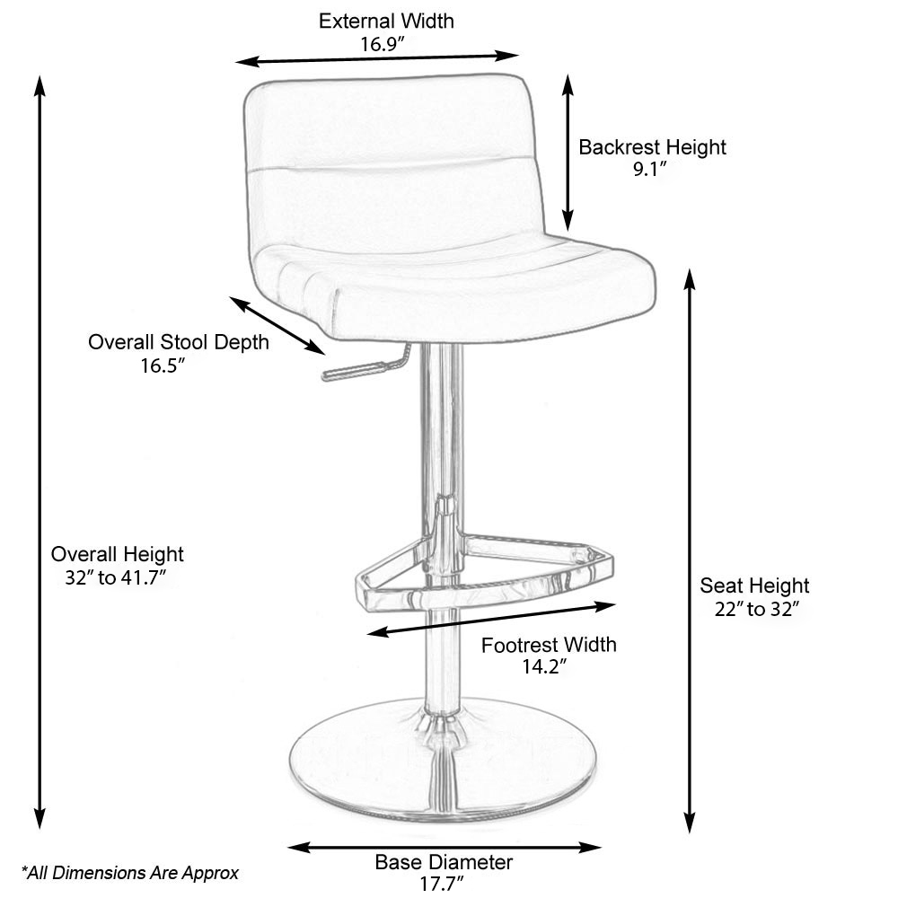 Lime Lattice Adjule Height Swivel Armless Bar Stool Zuri Furniture