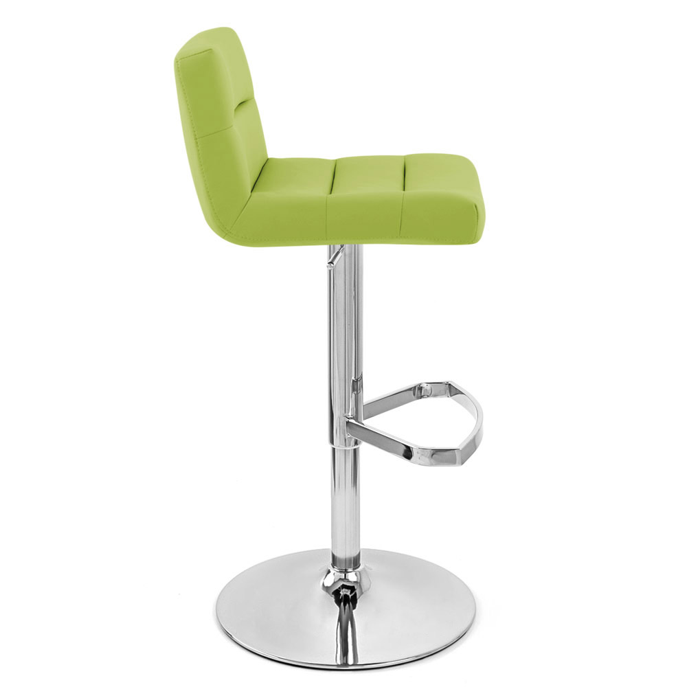 Lime Lattice Adjustable Height Swivel Armless Bar Stool