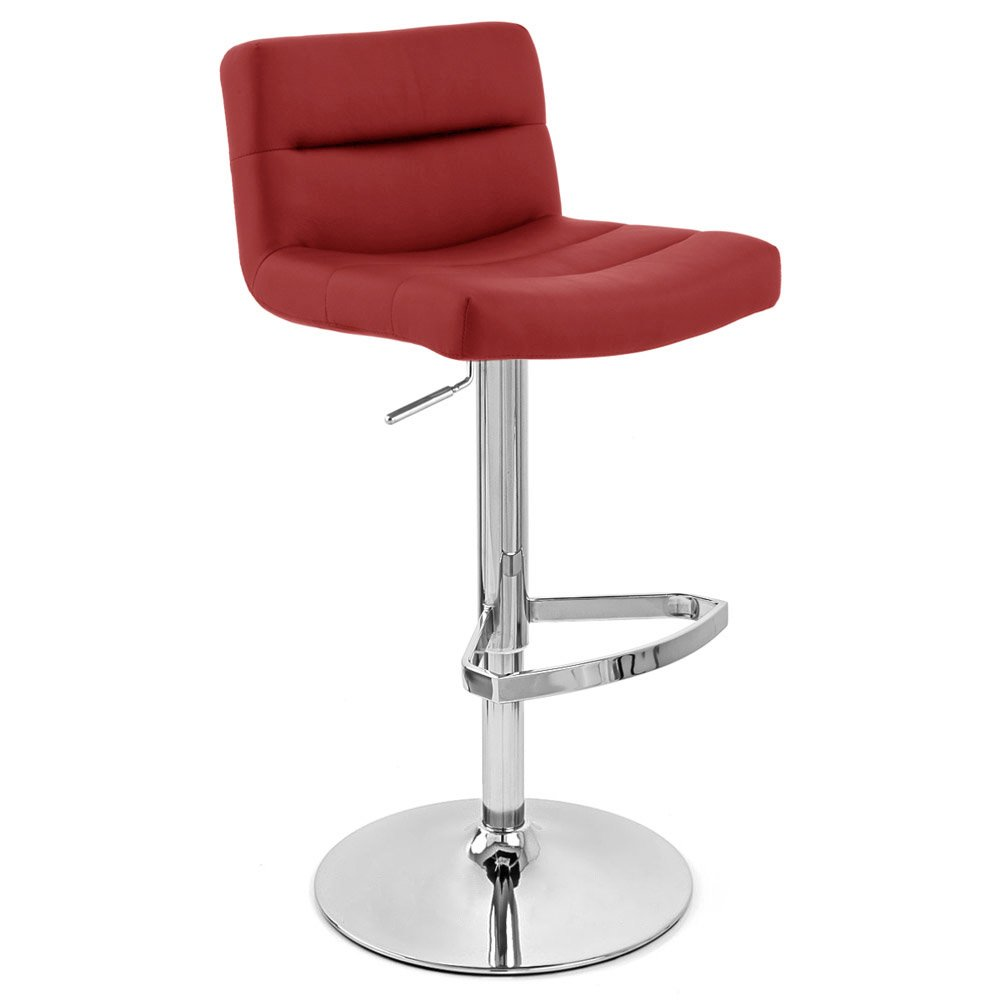 Red Metal Bar Stools Neobux Bg