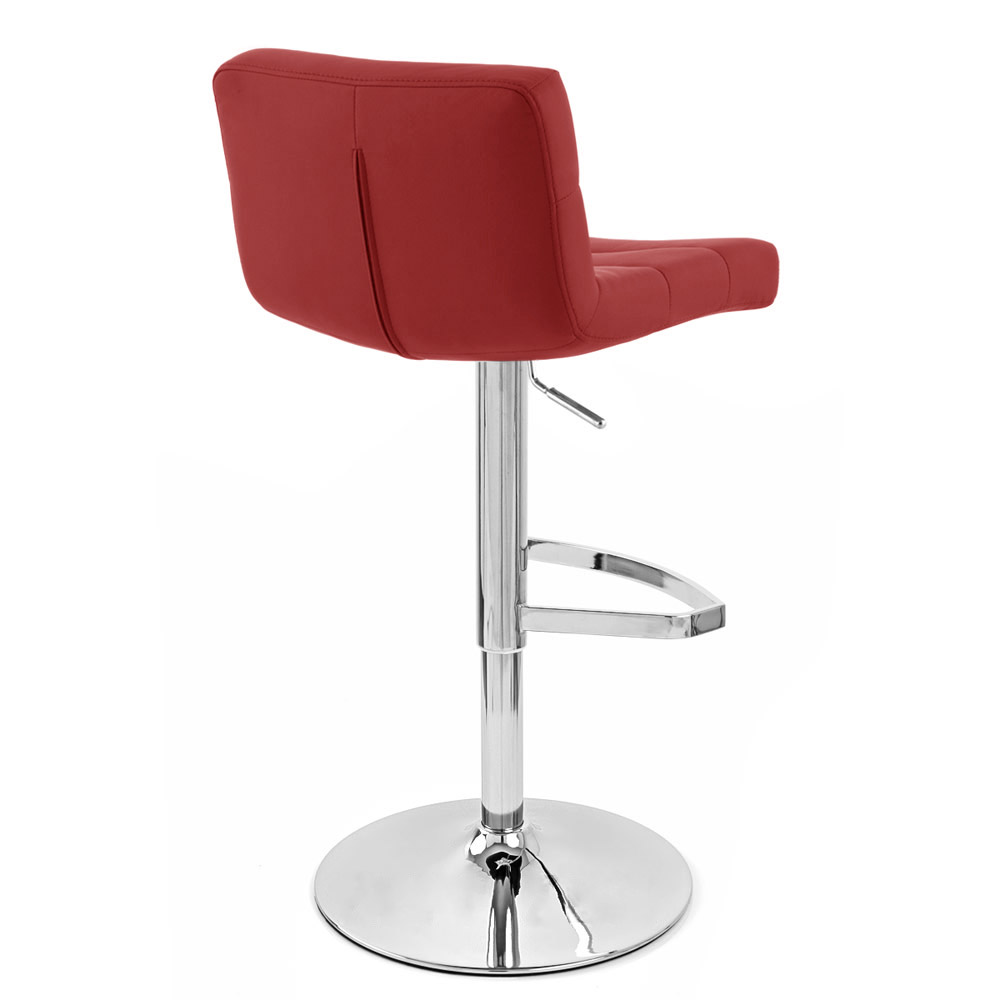 Red Lattice Adjustable Height Swivel Armless Bar Stool | Zuri Furniture  sc 1 st  Zuri Furniture : red modern bar stools - islam-shia.org