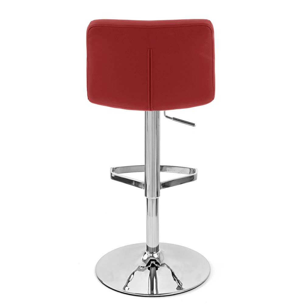 Red Lattice Bar Stool  sc 1 st  Zuri Furniture & Red Lattice Adjustable Height Swivel Armless Bar Stool | Zuri ... islam-shia.org