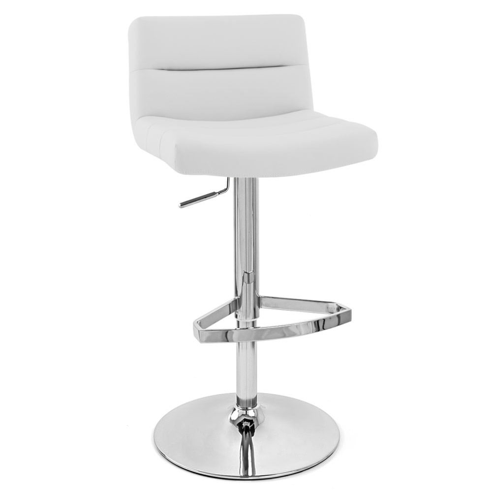 White Lattice Bar Stool