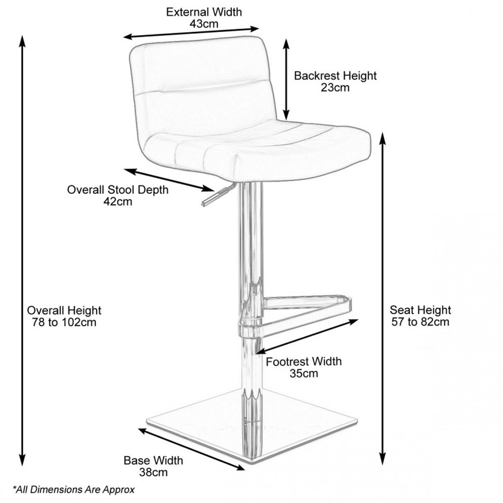 Lattice Square Base Adjustable Height Swivel Armless Bar
