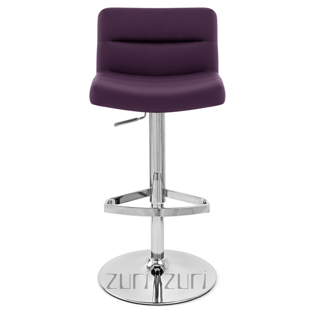 Lattice Adjustable Height Swivel Armless Bar Stool Zuri