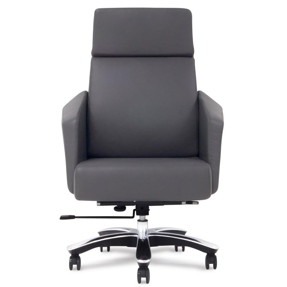 Lauren Leather Executive Chair Dark Grey
