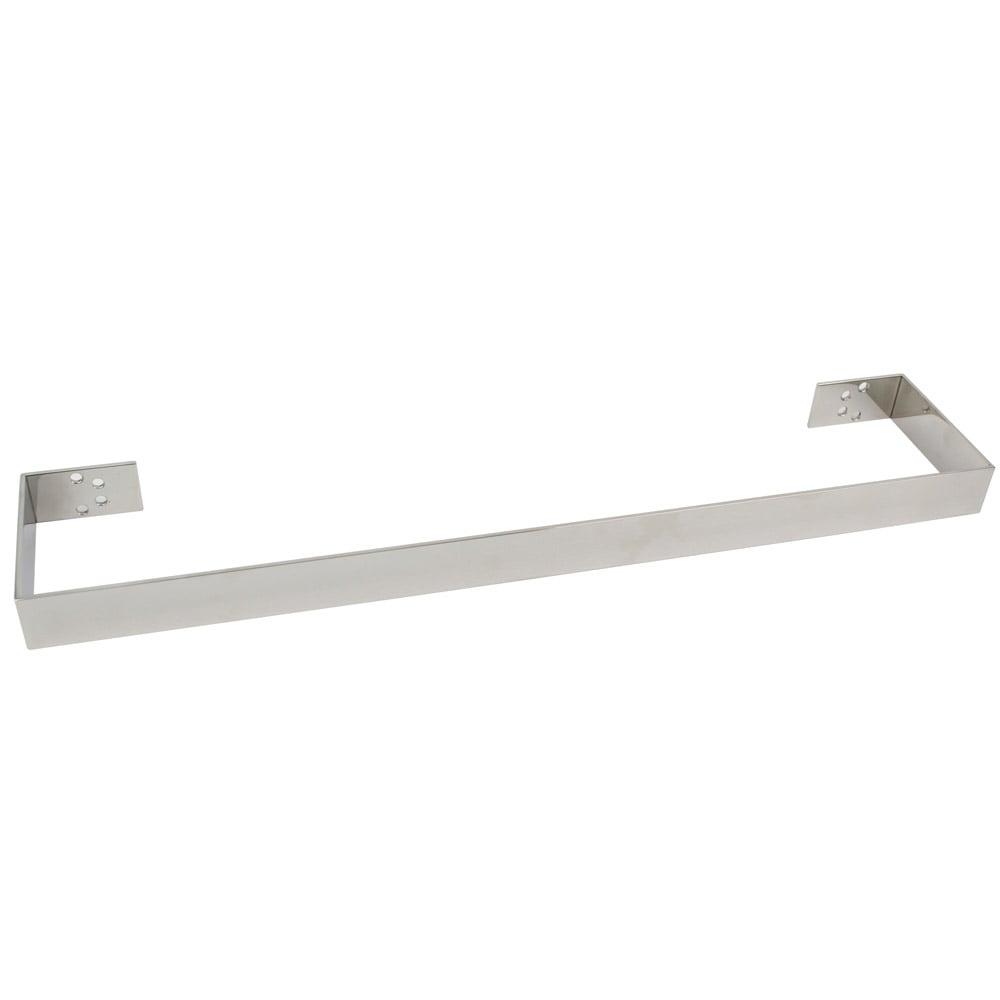 Lava Flat Polished Stainless Steel Bathroom Towel Bar | Zuri Furniture