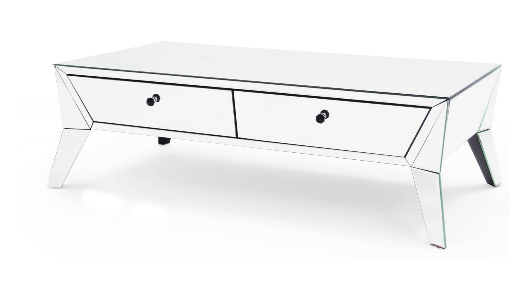 Lave Mirrored Glass Coffee Table Zuri Furniture