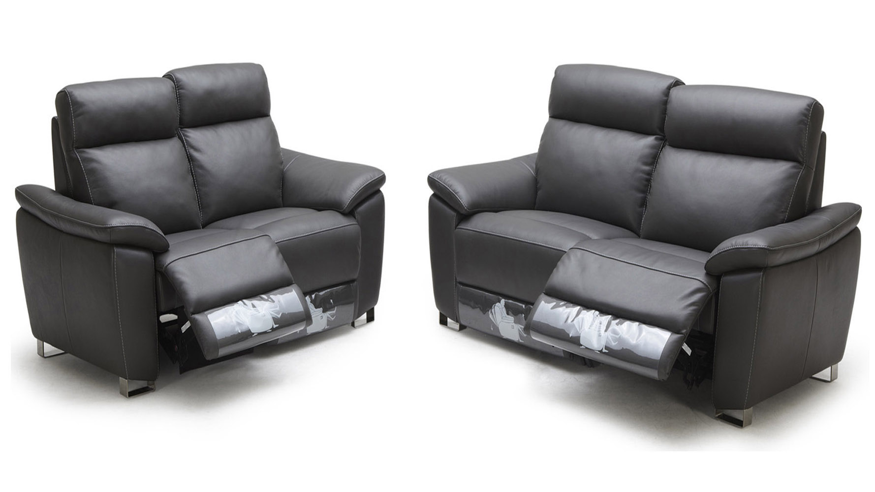 Grey Legian Reclining Leather Sofa Set With Loveseat And Chair | Zuri  Furniture