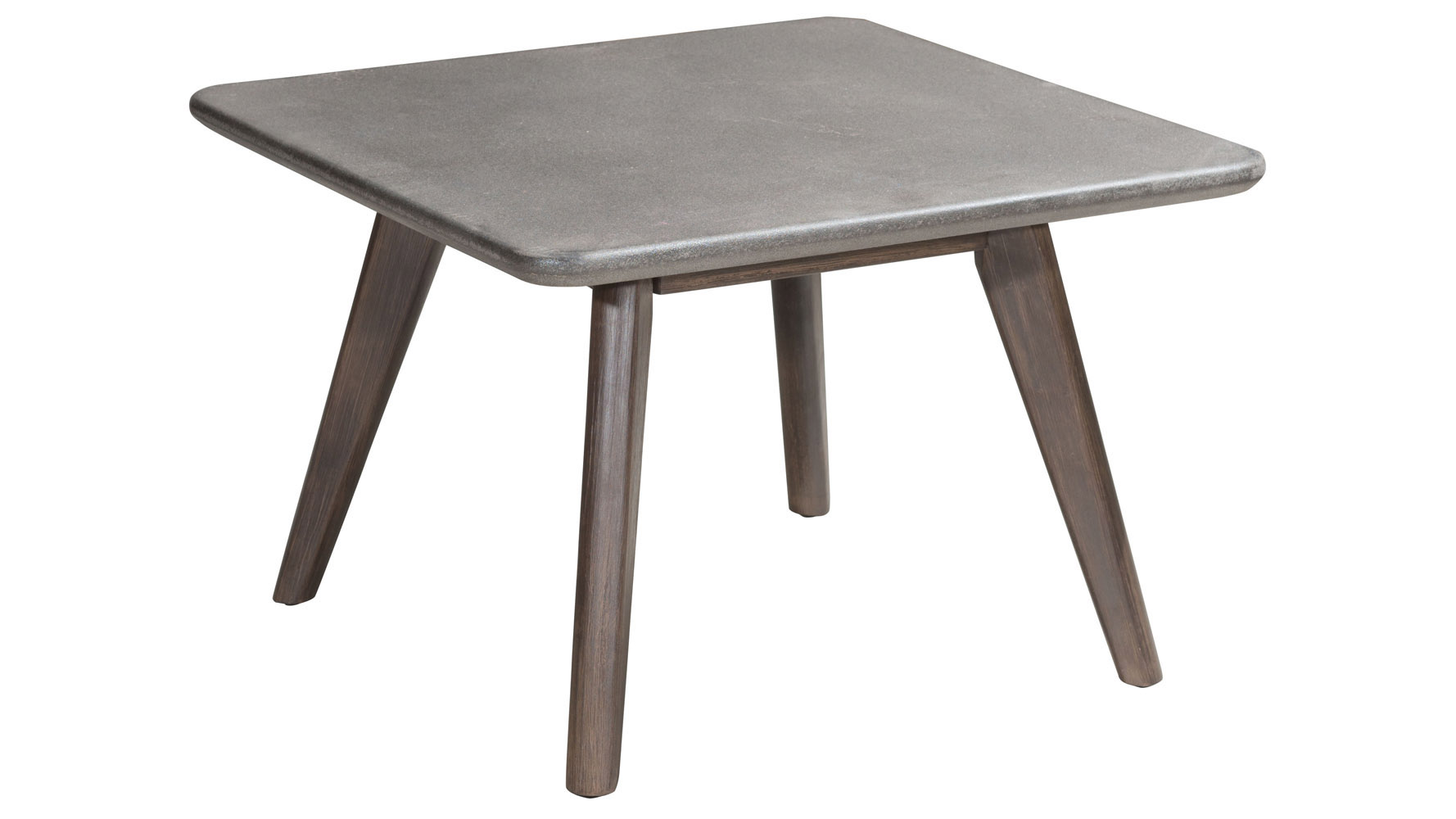 Leila Poly Cement and Acacia Wood Coffee Table, Natural ...