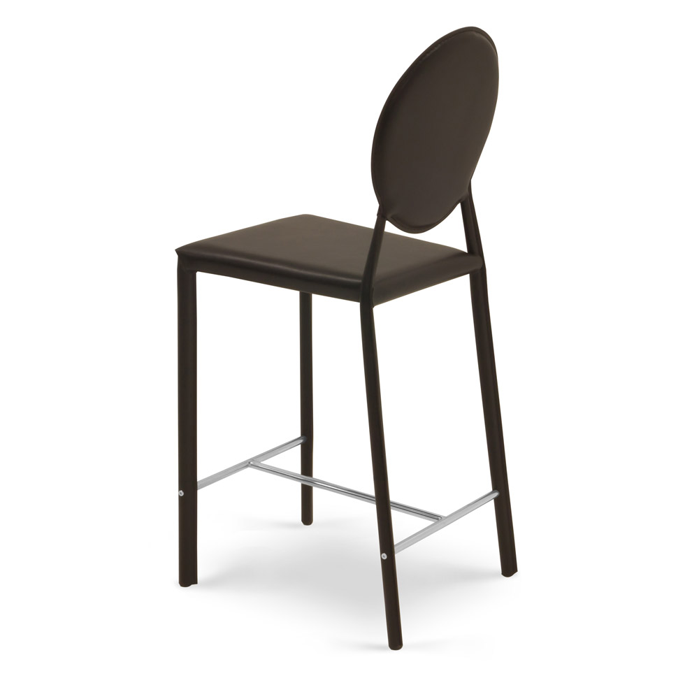 Leon Contemporary Counter Stool With Metal Base Zuri