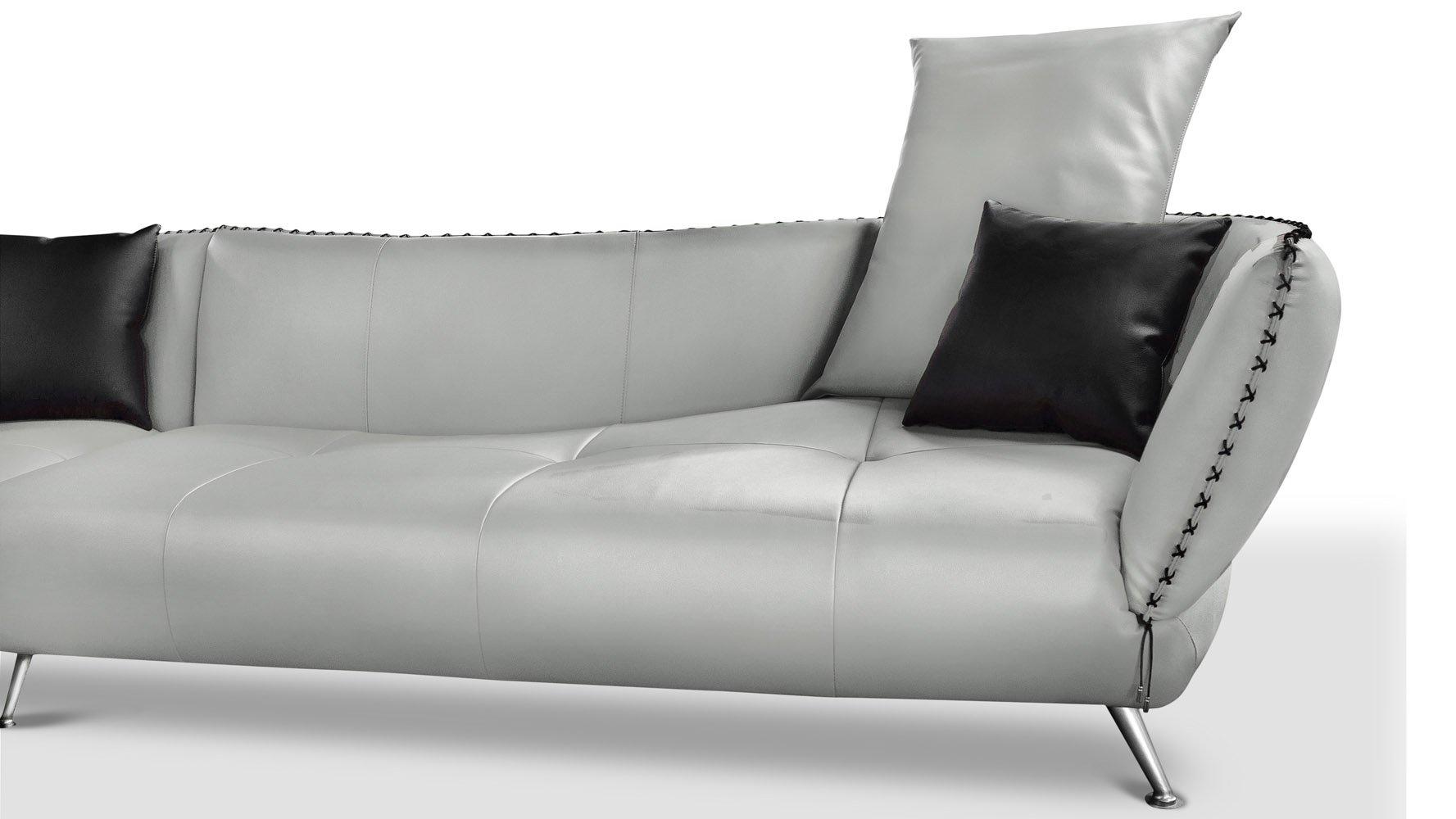 vitali aniline top grain leather sectional