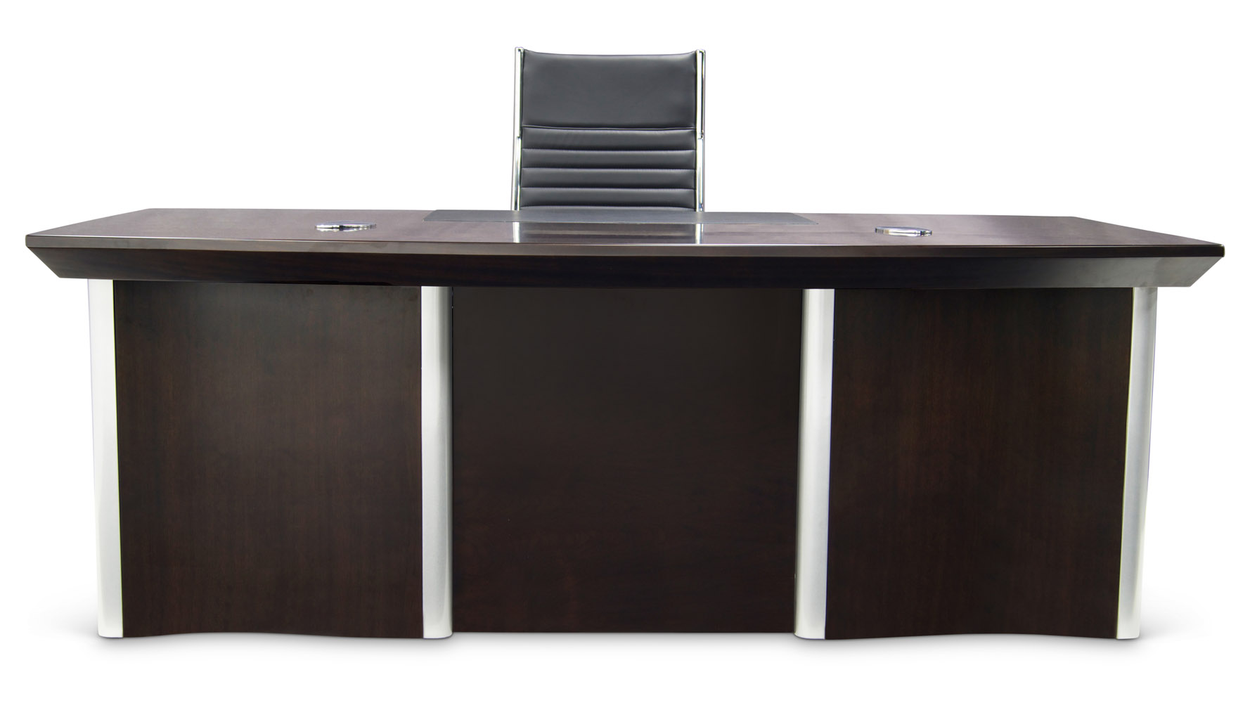 Lincoln Executive Dark Wood Desk With Rolling Return And