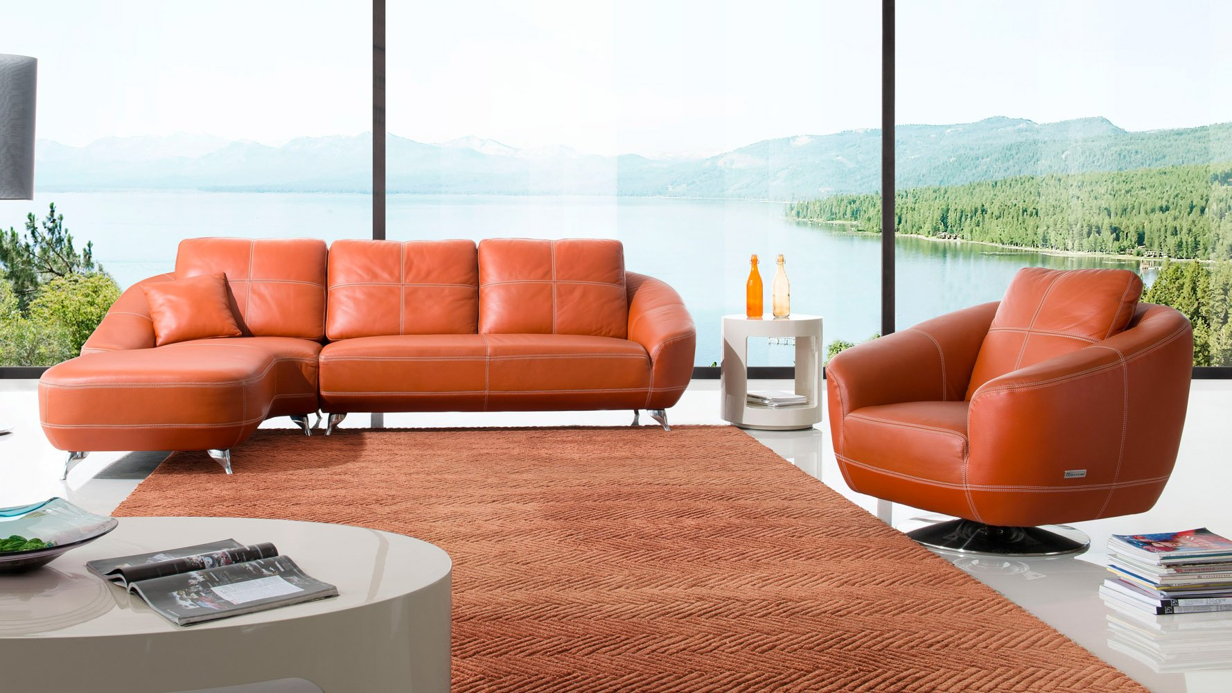 Lucy Sectional Set - Orange