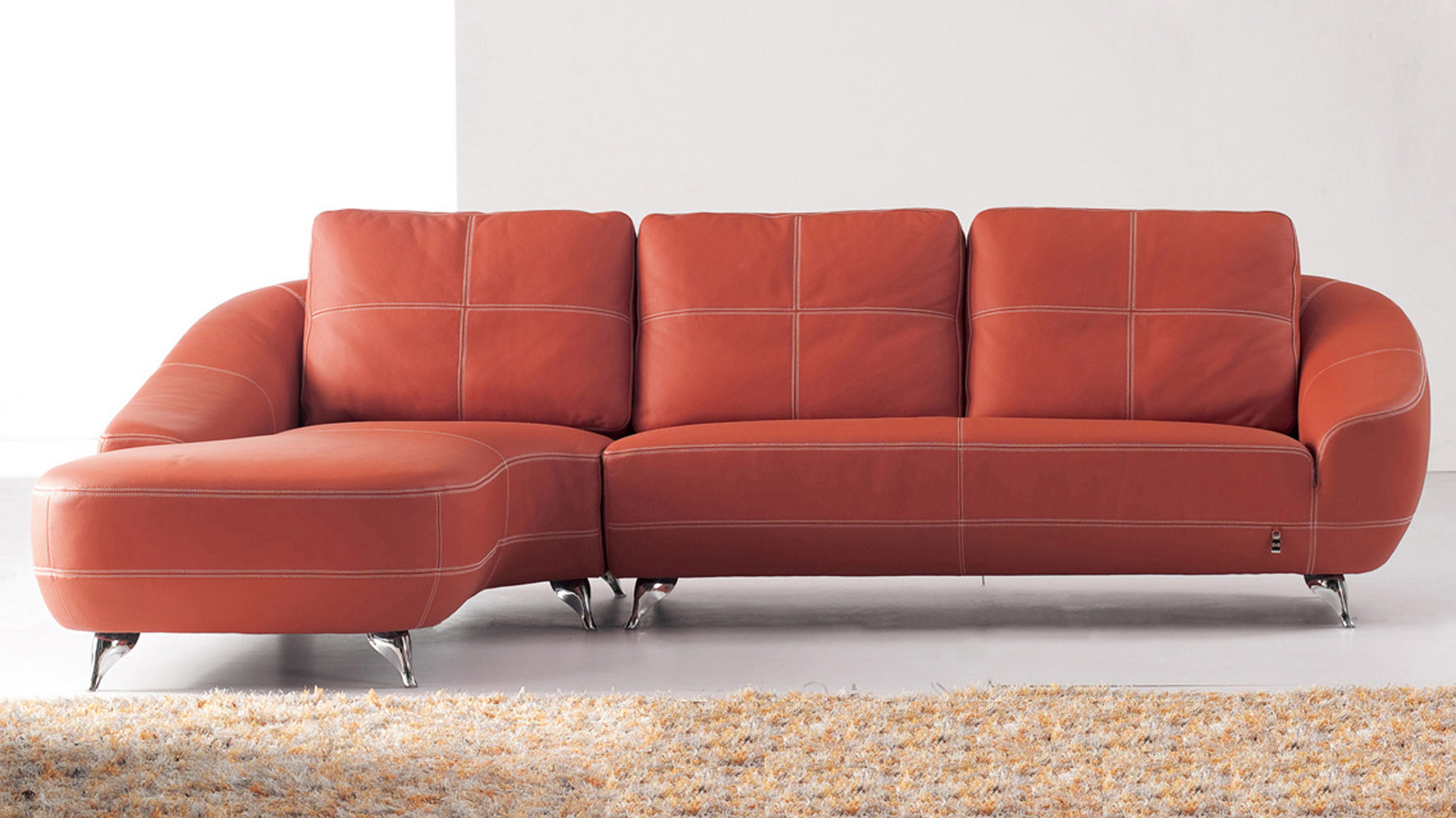 leather orange sofa chester persimmon orange sofa sofas article modern mid thesofa. Black Bedroom Furniture Sets. Home Design Ideas