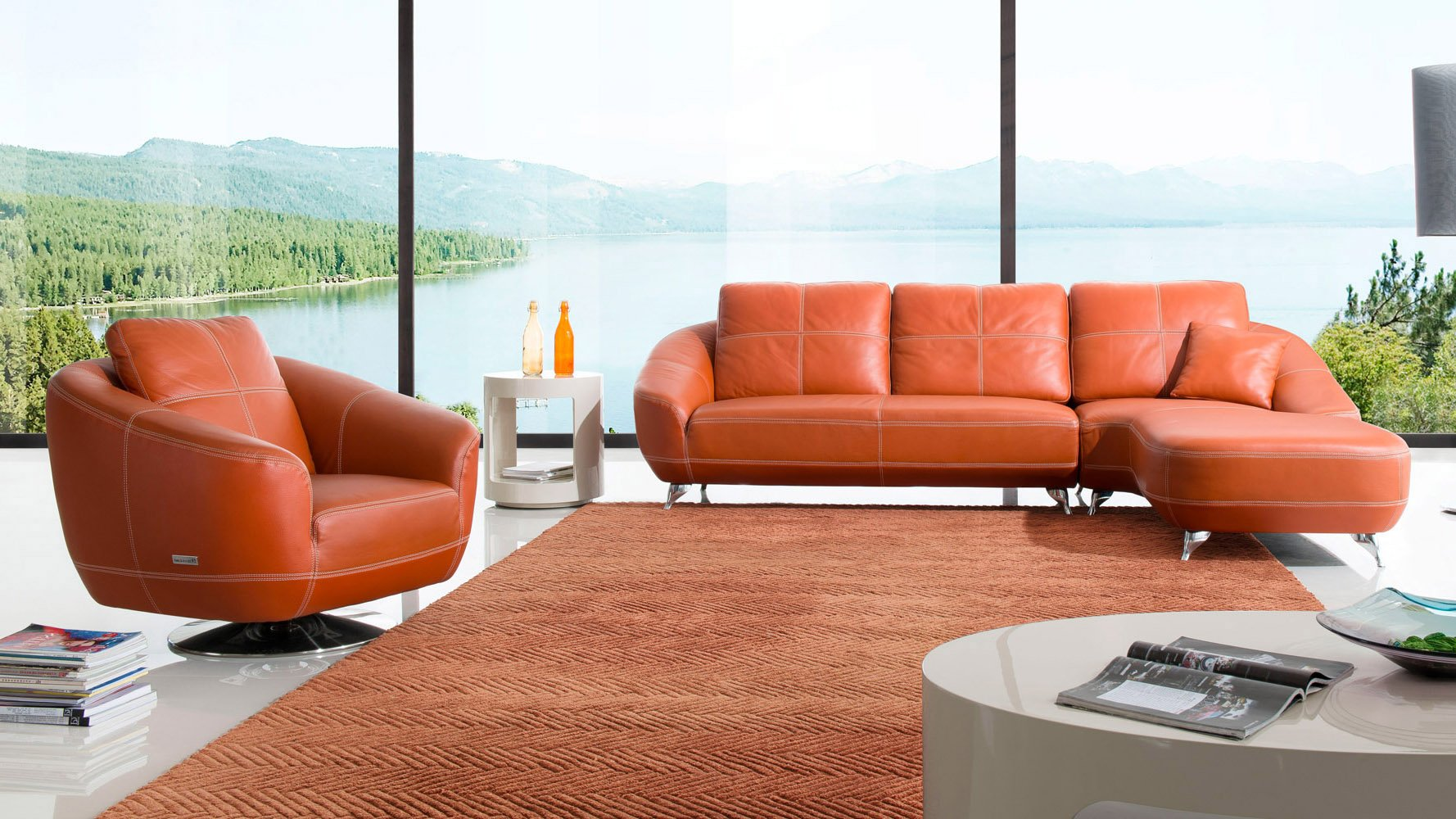 Chaise orange dc america fantasy chaise lounge chairs set for Burnt orange chaise lounge
