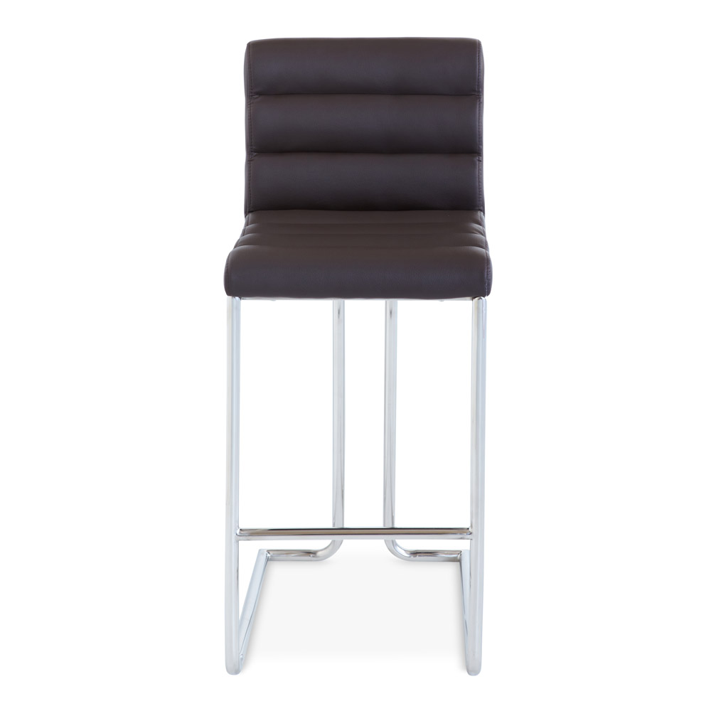 Luna counter height modern bar stool with metal base zuri furniture