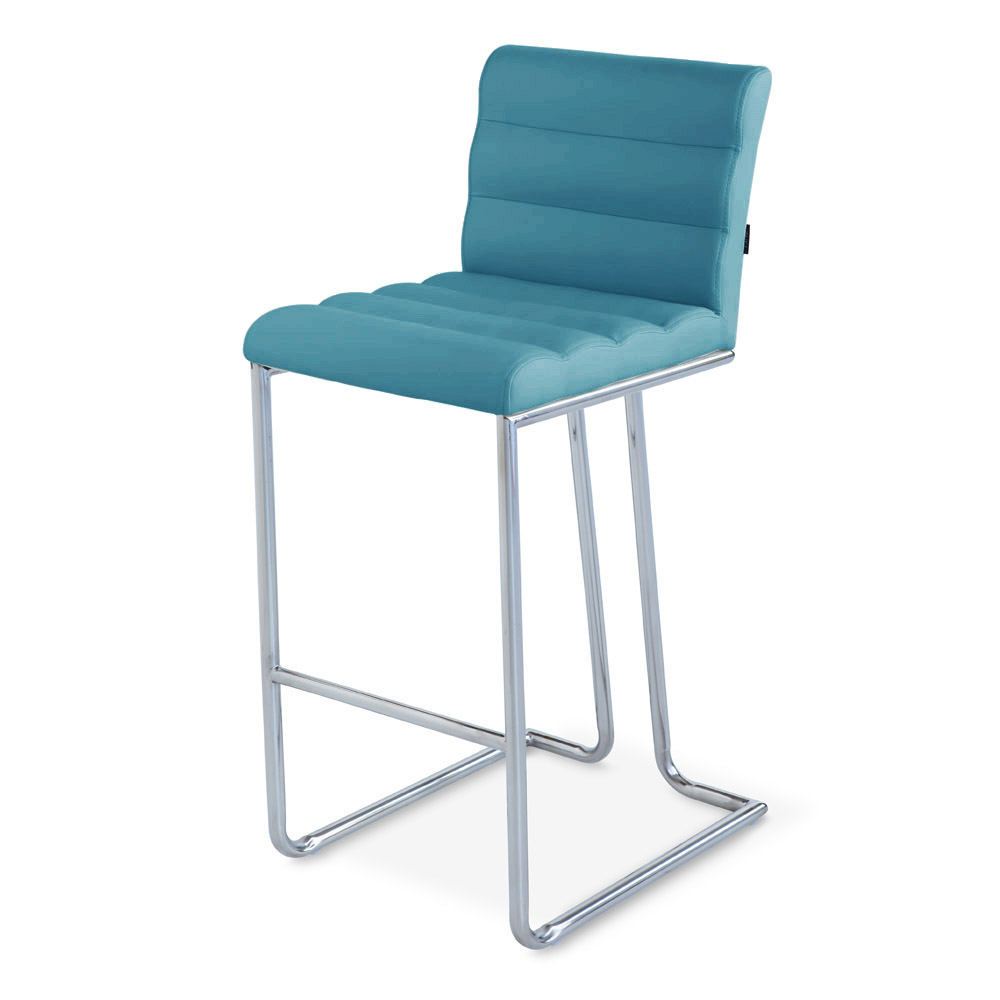 Luna Counter Height Modern Bar Stool With Metal Base Zuri Furniture