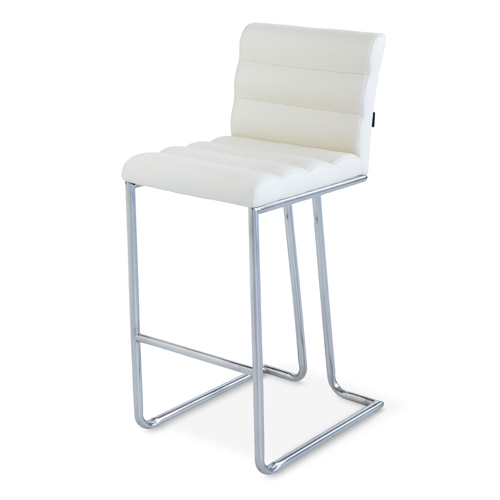 luna counter height modern bar stool with metal base  zuri furniture - luna counter stool