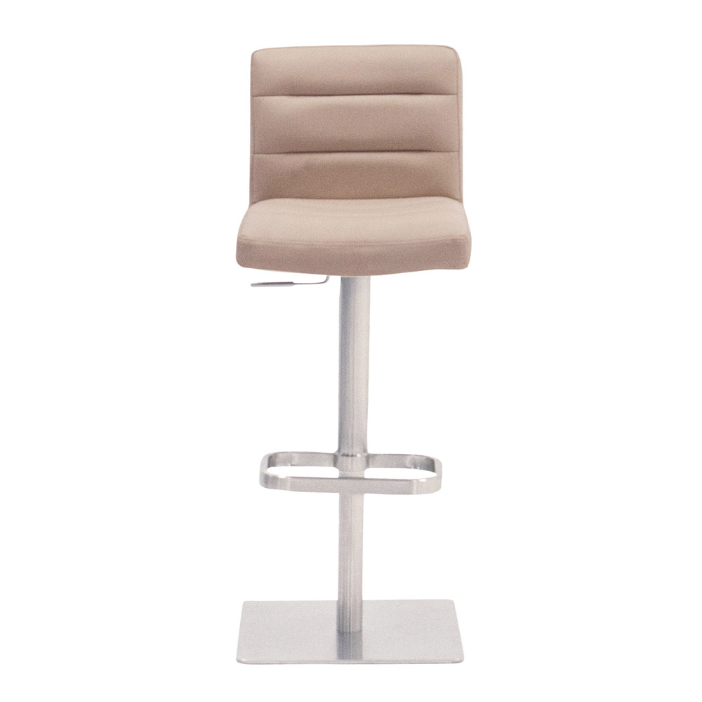 Taupe Lush Square Base Adjustable Height Swivel Armless