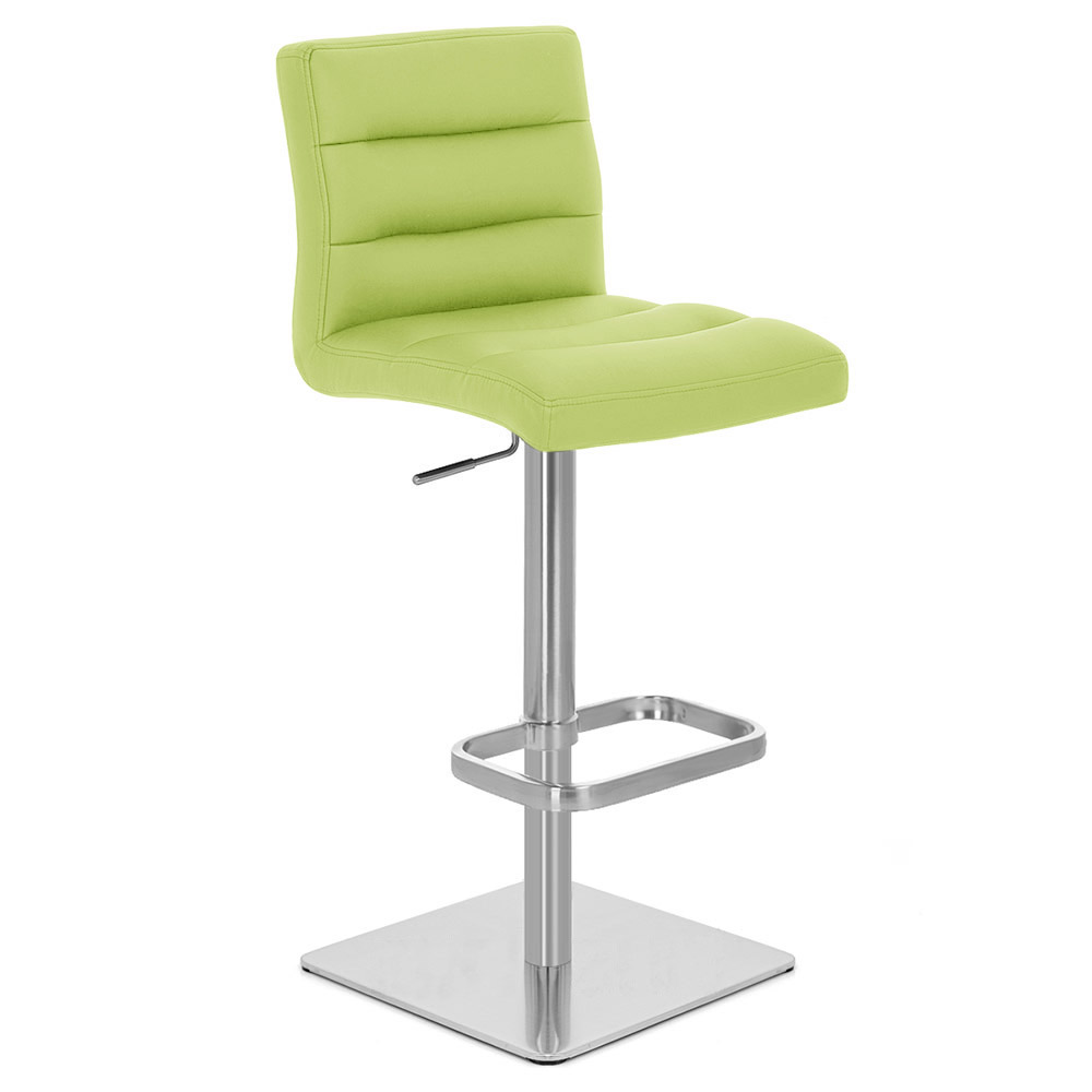Lush Square Base Adjustable Height Swivel Armless Bar