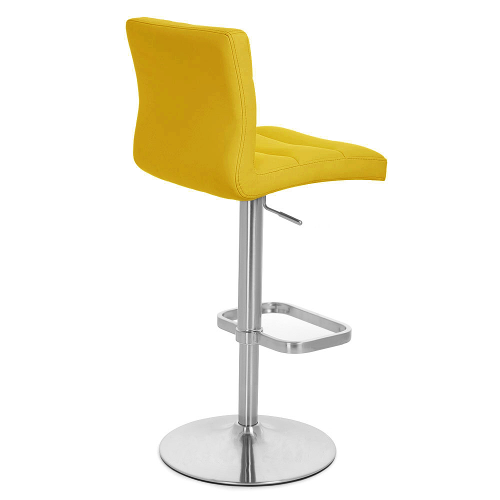 Lush Adjustable Height Swivel Armless Bar Stool Zuri