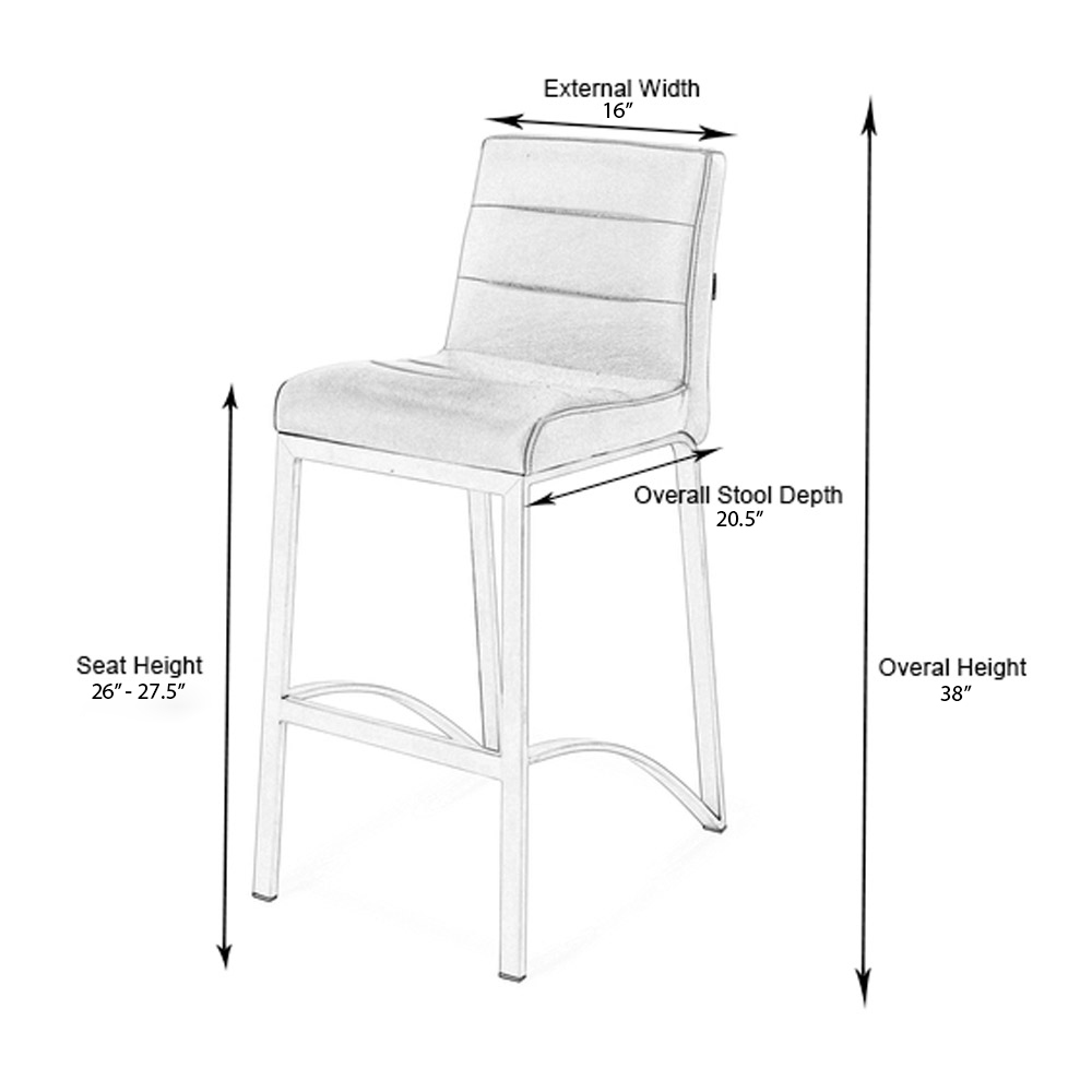 Cream Lynx Counter Height Contemporary Bar Stool With