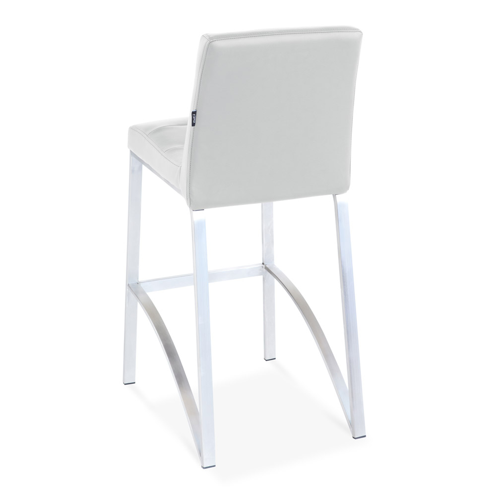 Lynx Counter Height Contemporary Bar Stool With Metal Base