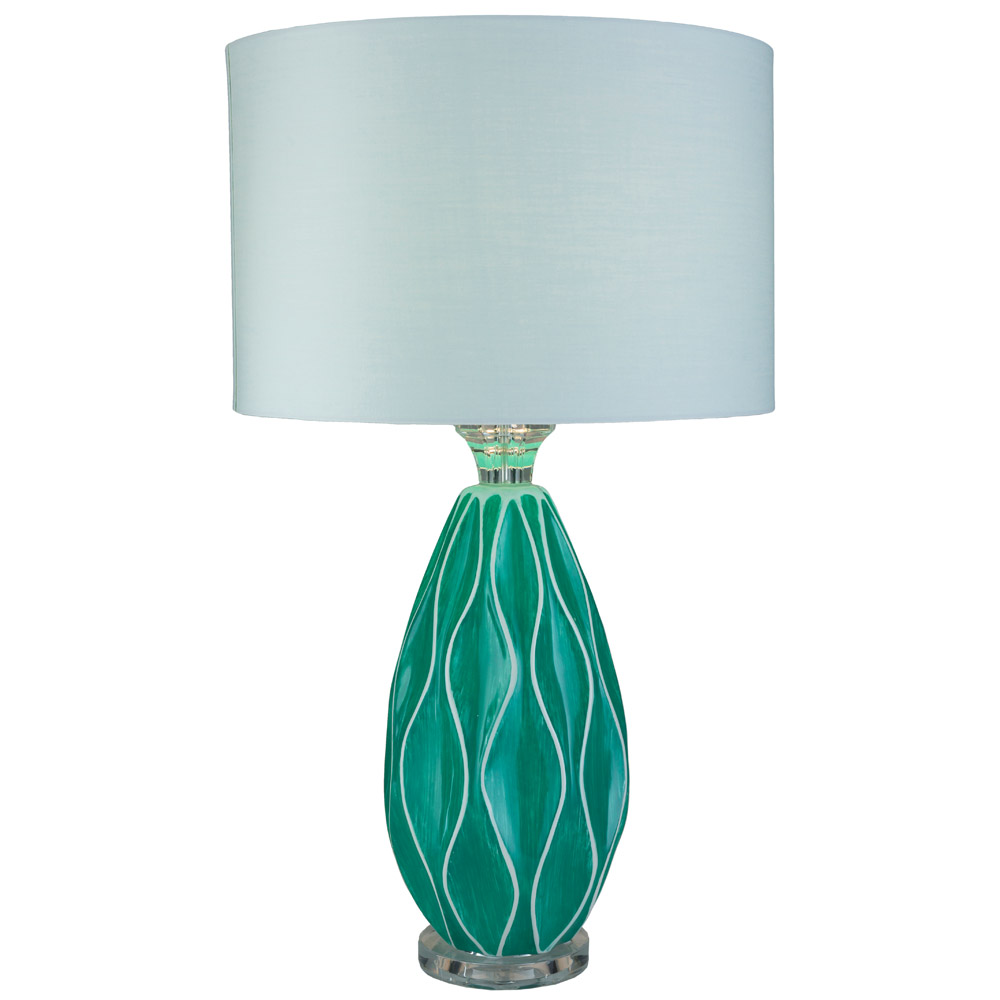 Lyse ceramic base and cotton shade table lamp zuri furniture lyse table lamp geotapseo Images