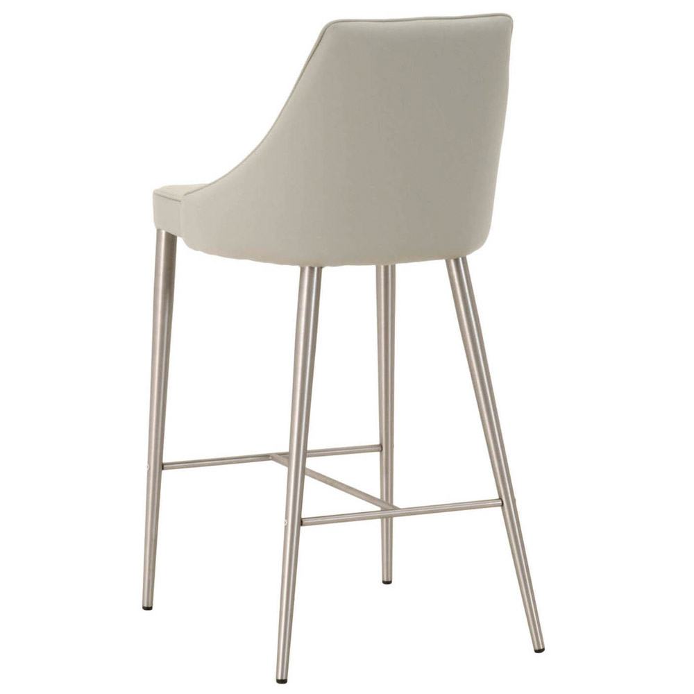 Macala Synthetic Leather Counter Stool Light Grey Zuri