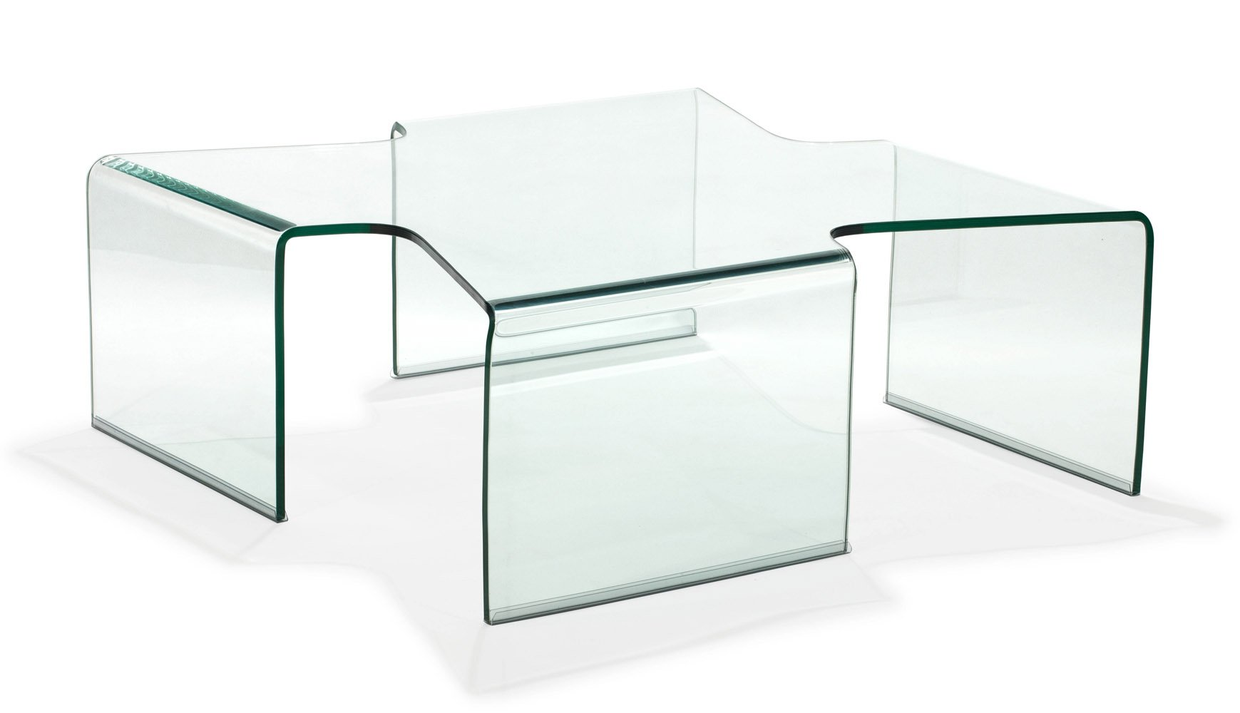 Madonna Tempered Glass Coffee Table Clear Glass Zuri Furniture