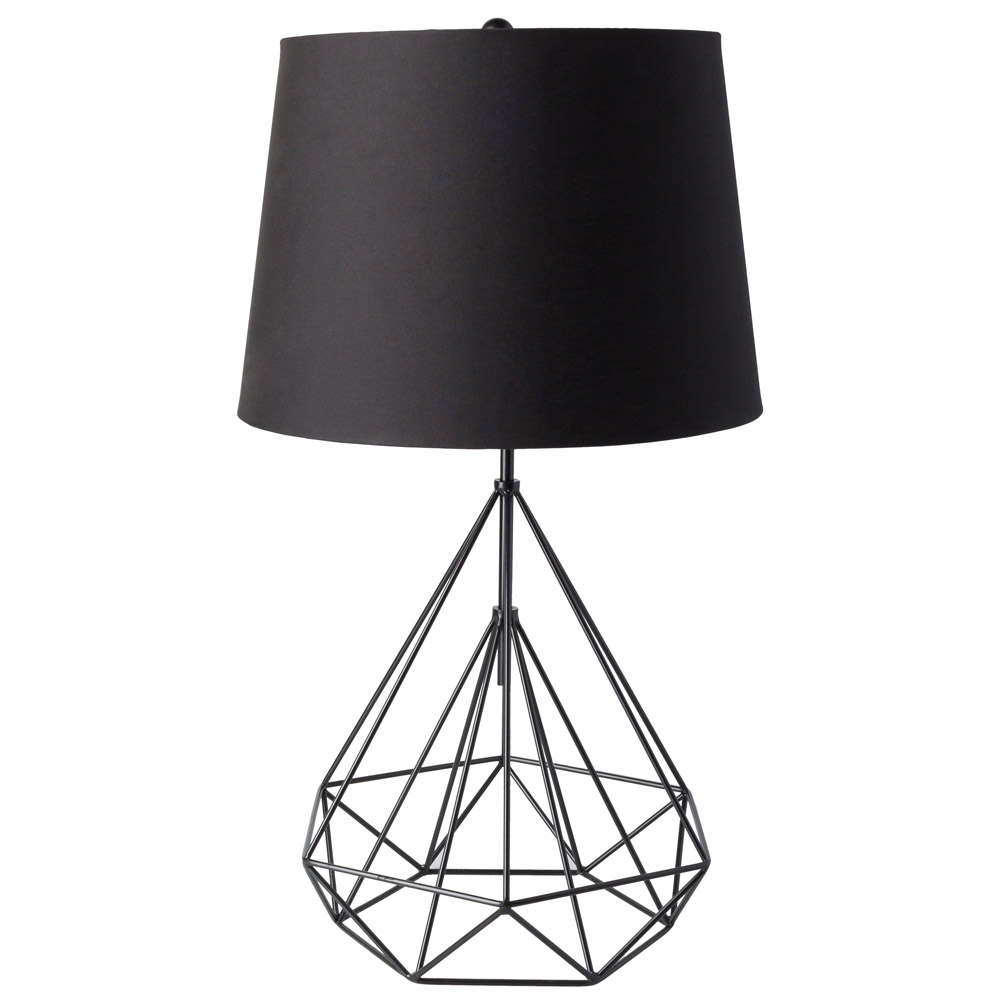 Maizeni metal base and linenpolyester shade table lamp zuri maizeni table lamp geotapseo Image collections