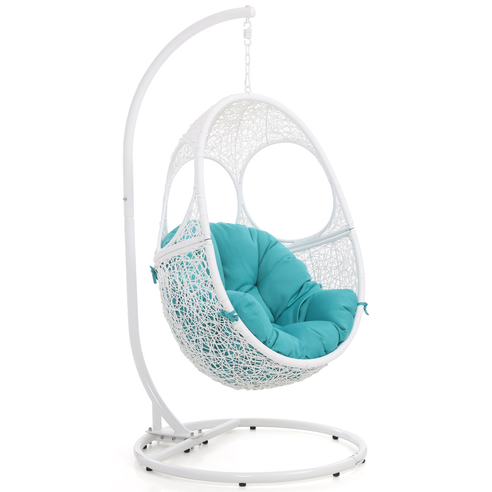 Malaga Swing Chair White Zuri Furniture