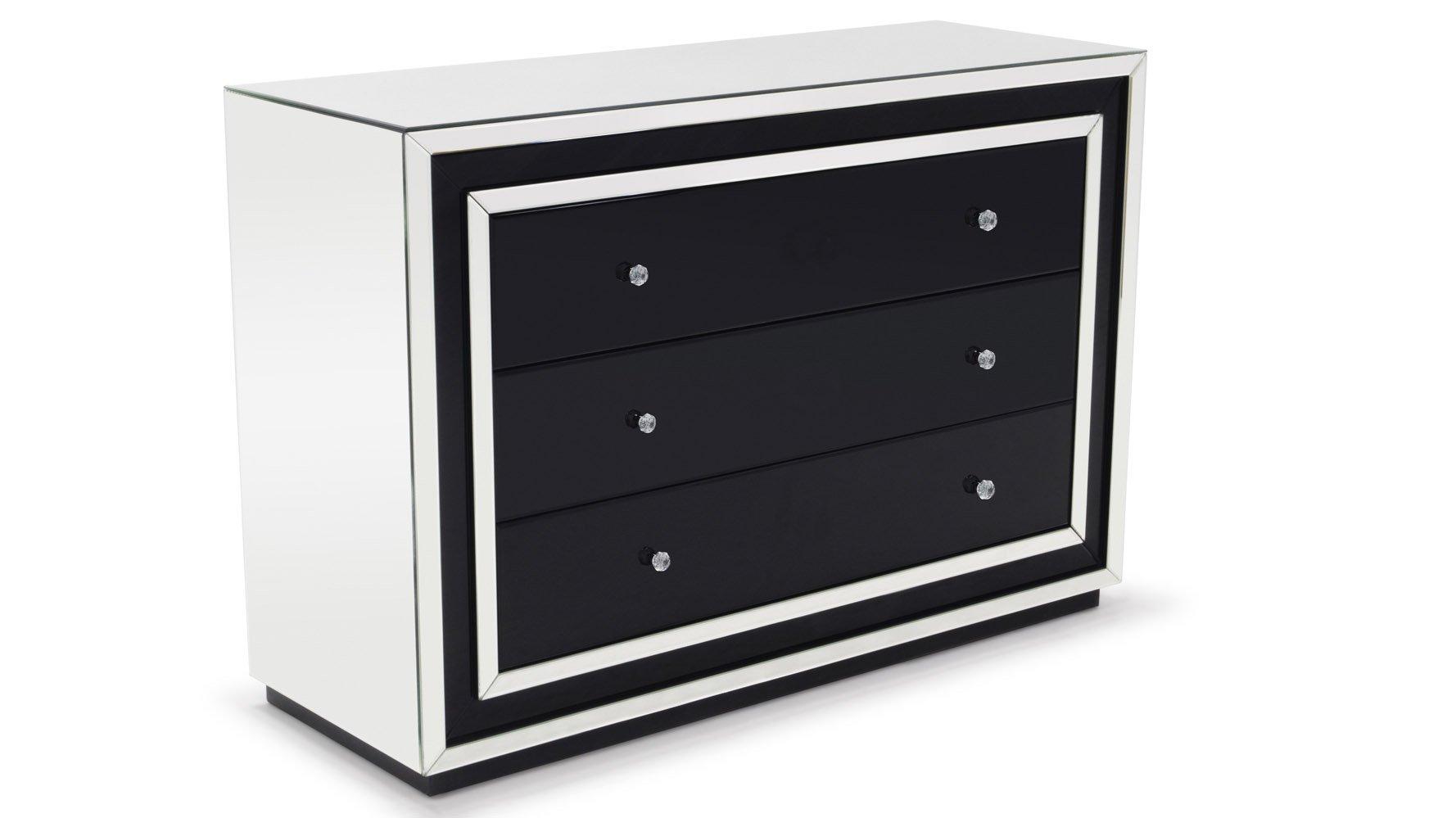 malibu contemporary mirrored drawer dresser  zuri furniture -