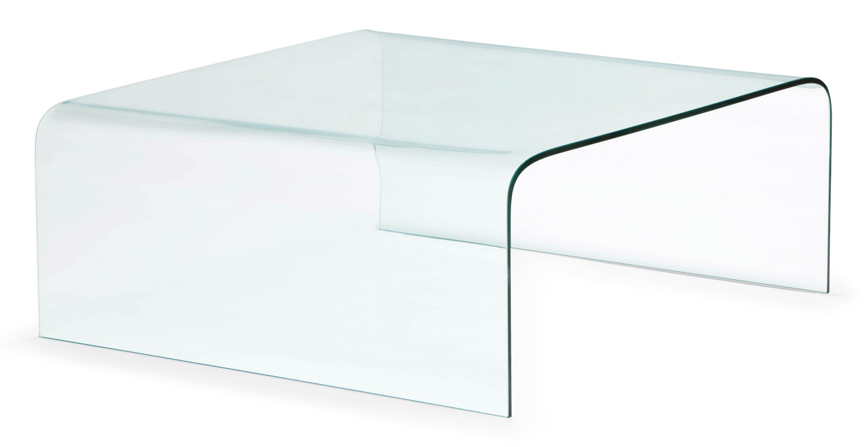 Mary Tempered Glass Coffee Table Clear Glass Zuri Furniture
