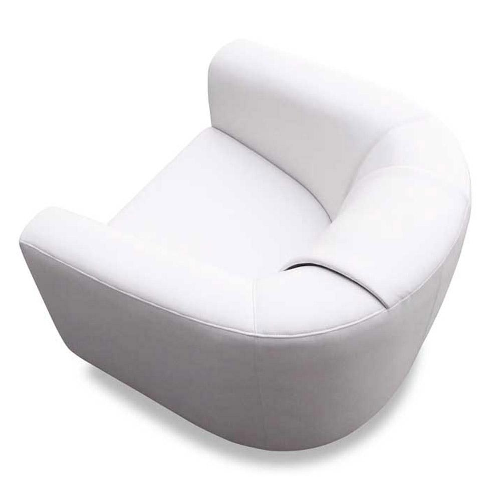 Maxine White Leatherette Swivel Chair Zuri Furniture