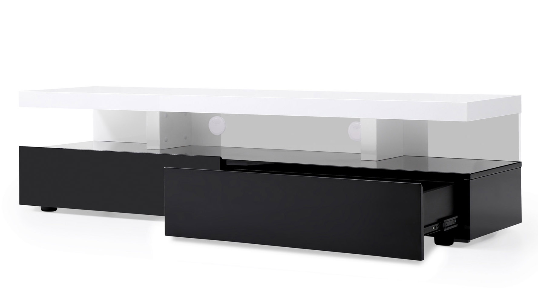 Black Lacquer And White High Gloss Lacquer Mcintosh 71 Inch Tv Stand