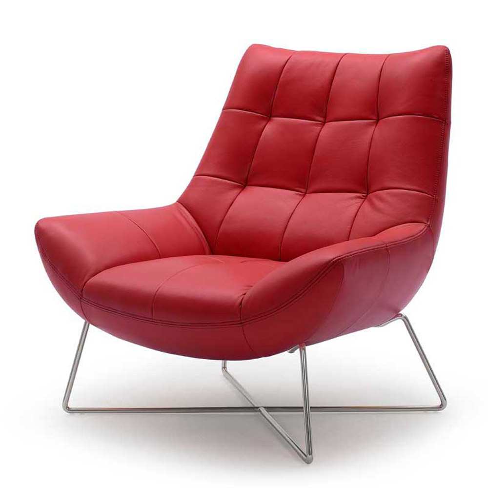 Red Modern Accent Chair